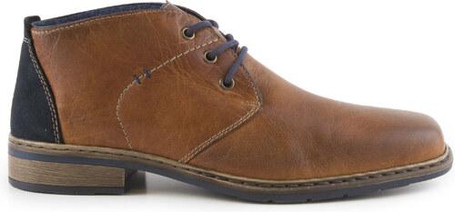 Rieker - Pánské kožené zimní kotníkové boty se zateplením a šněrováním  10842-25   hnědá b97e2f8a63d