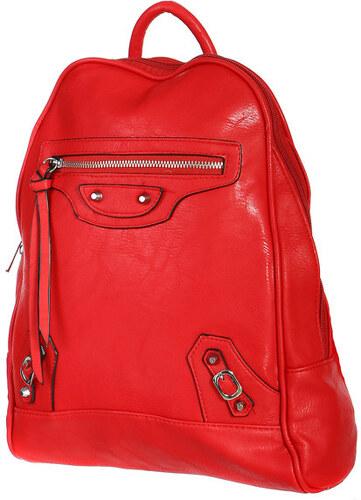 c0855d7b319 TopMode Malý koženkový batoh s přední kapsou (červená) červená ...