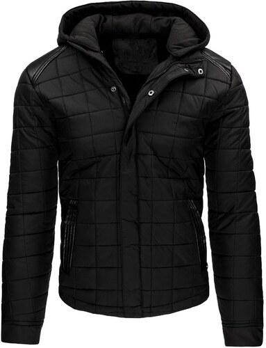 Elegantná čierna zimná pánska bunda s kapucňou - Glami.sk db3f1f9fb0e