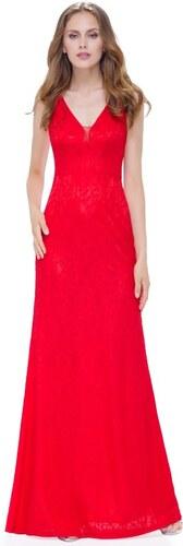 57e61ca19011 Ever Pretty Plesové šaty společenské červené s krajkou 8917 - Glami.cz