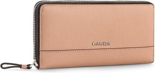 2d31d61ec5e19 Große Damen Geldbörse CALVIN KLEIN BLACK LABEL - Kate Large Ziparound  K60K601075 Cosmetic Pink 606