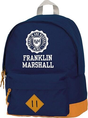 Rucksack mit gummiertem Bodenschutz, »Franklin & Marshall, Boys Backpack dunkelblau, groß«