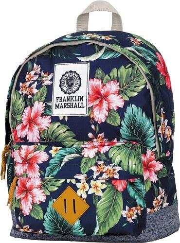 Rucksack mit gummiertem Bodenschutz, »Franklin & Marshall, Girls Backpack blumen, Vol. 16 Liter