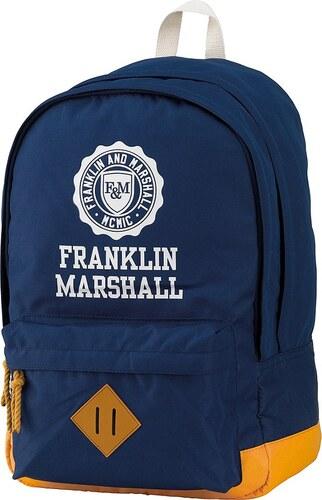 Rucksack mit gummiertem Bodenschutz, »Franklin & Marshall, Boys Backpack dunkelblau«