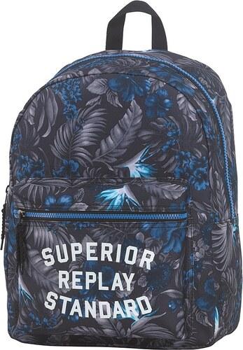 Schulrucksack, »Replay, Classic Boys Backpack grau/blau«