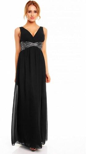 9e900b833b7 Dámské společenské a plesové šaty zdobené korálky EVA LOLA 2520 černá