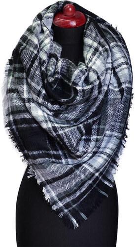 Maxi šála 69pz013-70.01 - černobílá kostkovaná - Glami.cz dd2d9d295e