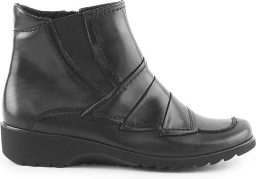 Ara - Dámské kotníkové boty se zipem a přehyby šíře H 12-42758-61 ... 276d286a35