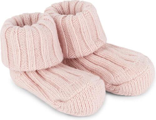 Petits chaussons côtelés rose