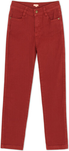 Pantalon cinq poches orange
