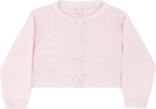 Veste tricot rose