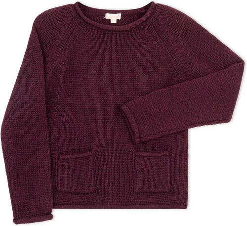 Jersey poche abergine