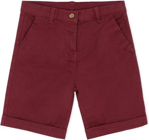 Pantalon Court Sergé - Grenat