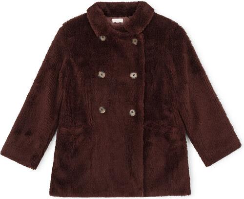 Manteau en mouton marron