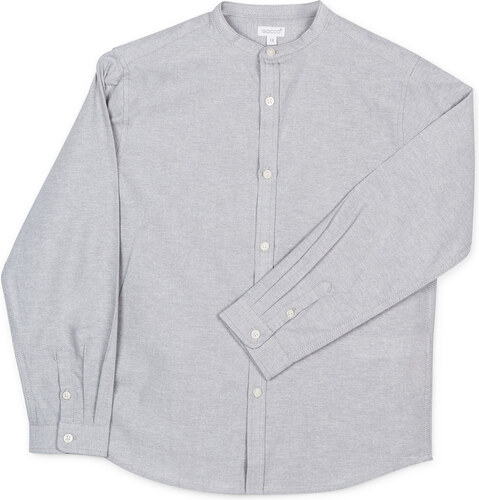 Chemise Mao Oxford - Gris
