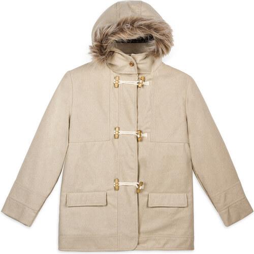 Trenchcoat capuche beige