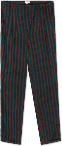 Pantalon long à rayures vert