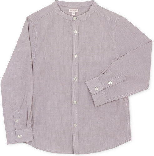CHEMISE MANCHES LONGUES COL MAO