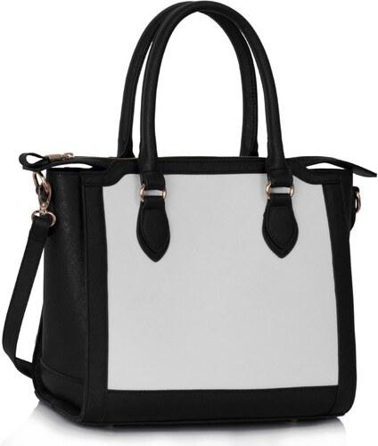 L S Fashion (Anglie) Kabelka LS00149A černobílá - Glami.cz 28b425c98e