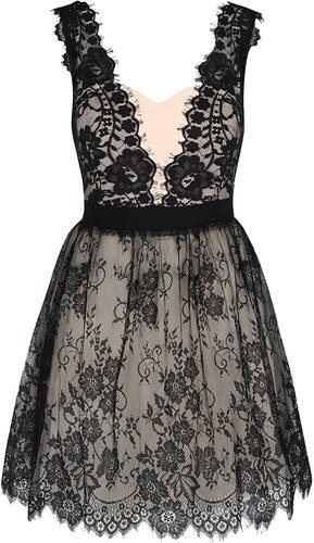 Čierno-krémové čipkované šaty Little Mistress - Glami.sk 0d44c58603c
