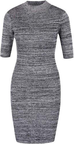 f68a6e4d5071 Sivé melírované strečové šaty s krátkym rukávom Apricot - Glami.sk