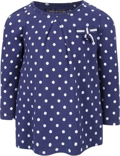 08a38dd544ce Tmavomodré dievčenské bodkované tričko s dlhým rukávom 5.10.15 ...