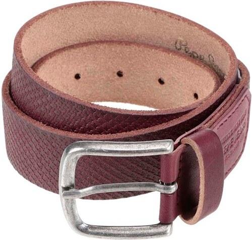 Hnědý pánský kožený pásek se vzorem Pepe Jeans Massy - Glami.cz 072ff44c35