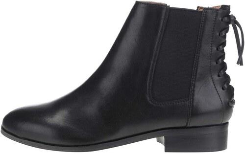 Černé dámské kožené kotníkové boty s gumovou vsadkou ALDO Boudinot ... 179f59a623