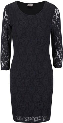 fd62a18f057 Černé krajkové šaty s dlouhým rukávem Vero Moda Lilly - Glami.cz