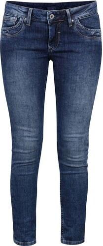 Modré dámské slim fit džíny s nízkým pasem Pepe Jeans Ripple - Glami.cz 9ccd96efdb