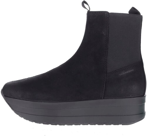 517097a80ecc Čierne dámske kožené chelsea topánky na platforme Vagabond Casey ...