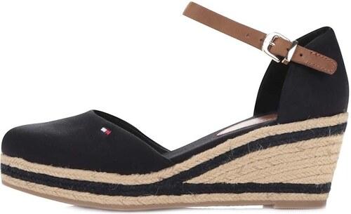 Čierne dámske nižšie bavlnené topánky na platforme Tommy Hilfiger ... 5d2d310ecc0