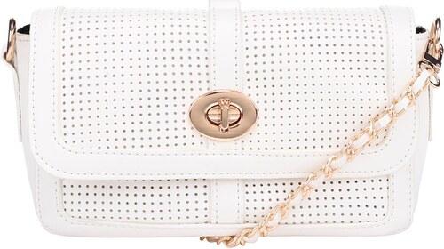 Krémová crossbody kabelka s řetízkem a detaily ve zlaté barvě TALLY WEiJL 402b31ebff5