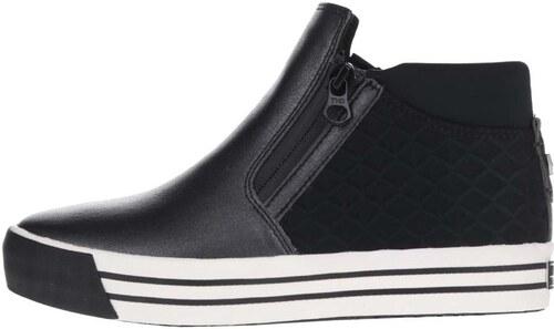 Modro-čierne dámske topánky s prešívanou pätou Tommy Hilfiger - Glami.sk 9e8b885015d