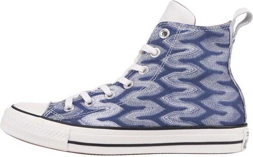Modro-biele vzorované unisex tenisky Converse Chuck Taylor All Star ... 7ff3498617
