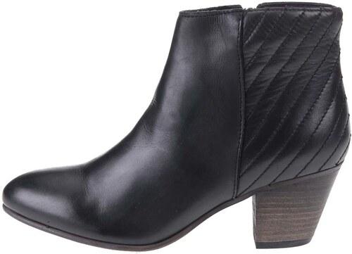 27c51ba29b Čierne kožené členkové topánky ALDO Cadosein - Glami.sk
