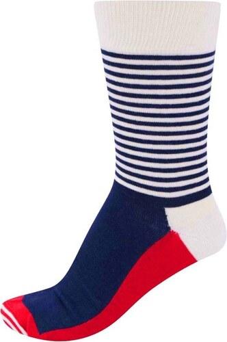 Trojfarebné pánske pásikavé ponožky Happy Socks Half Stripe - Glami.sk 8075d719c4