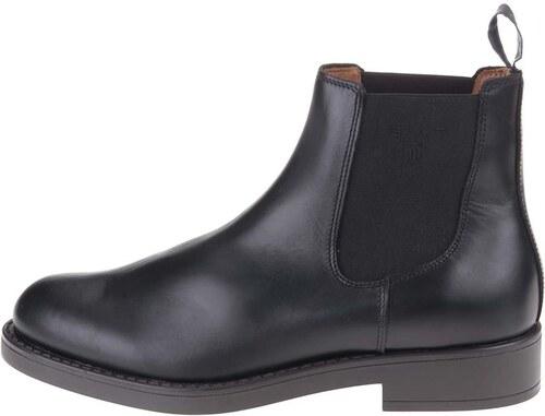 11a4688a11 Čierne pánske kožené chelsea topánky GANT Oscar - Glami.sk