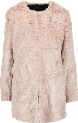 a28e745f6a5 Béžový kabát s kožíškem ONLY Banks - Glami.cz