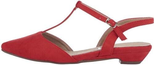 6e2642ab06dc Červené sandálky s uzavřenou špičkou Xti - Glami.cz