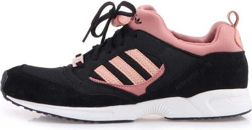 b931f5abd7b Růžovo-černé dámské sportovní boty adidas Originals Torsion Response ...