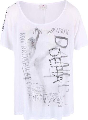 Bílé průsvitné tričko DEHA Dance - Glami.cz a958f56486