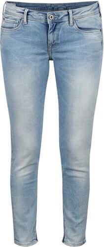 Světle modré dámské slim fit džíny s nízkým pasem Pepe Jeans Cher ... 3e5bec3663