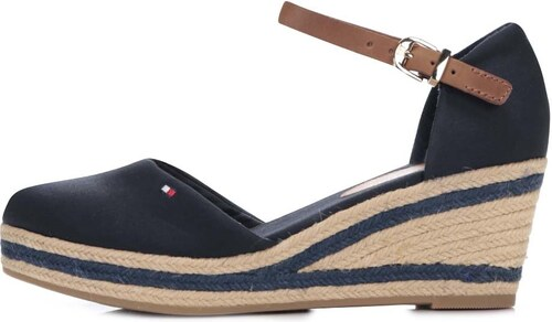 Tmavě modré dámské bavlněné boty na klínku Tommy Hilfiger - Glami.cz 5ebe944065