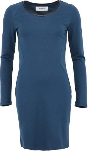 c4bcaece7439a Petrolejové šaty s koženkovým detailom VERO MODA Lea - Glami.sk