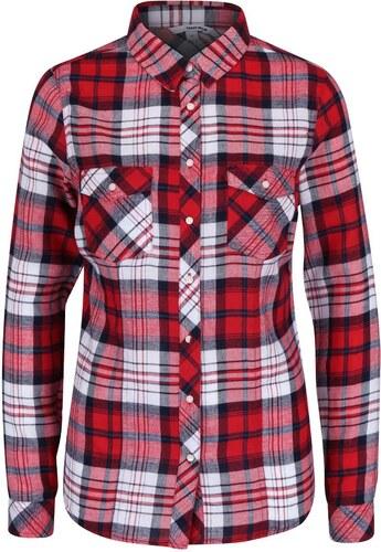 Bílo-červená kostkovaná košile s kapsami TALLY WEiJL - Glami.cz d7575f7dea