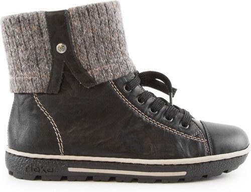 6baa67d5a85 Rieker - Dámské zimní kotníkové boty s přehybem