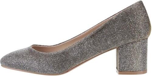 Třpytivé lodičky v zlato-stříbrné barvě na podpatku Dorothy Perkins ... 17e7827ba9