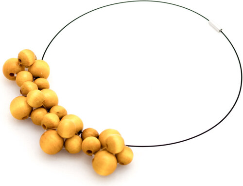 d08e33f8d Žltý drevený náhrdelník Ko–ra–le Bubbles - Glami.sk
