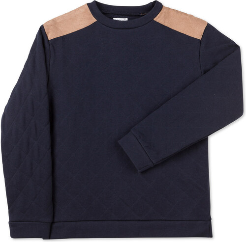 Sweatshirt surpiqûres marine